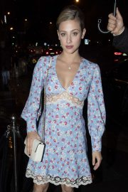 Lili Reinhart - Arrives at Miu Miu After Party Dinner in Paris