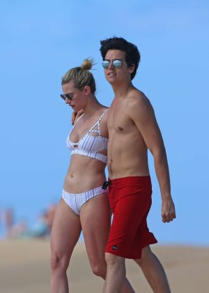 Lili Reinhart in Bikini with Cole Sprouse on the beach in Hawaii Pic 9 of 35