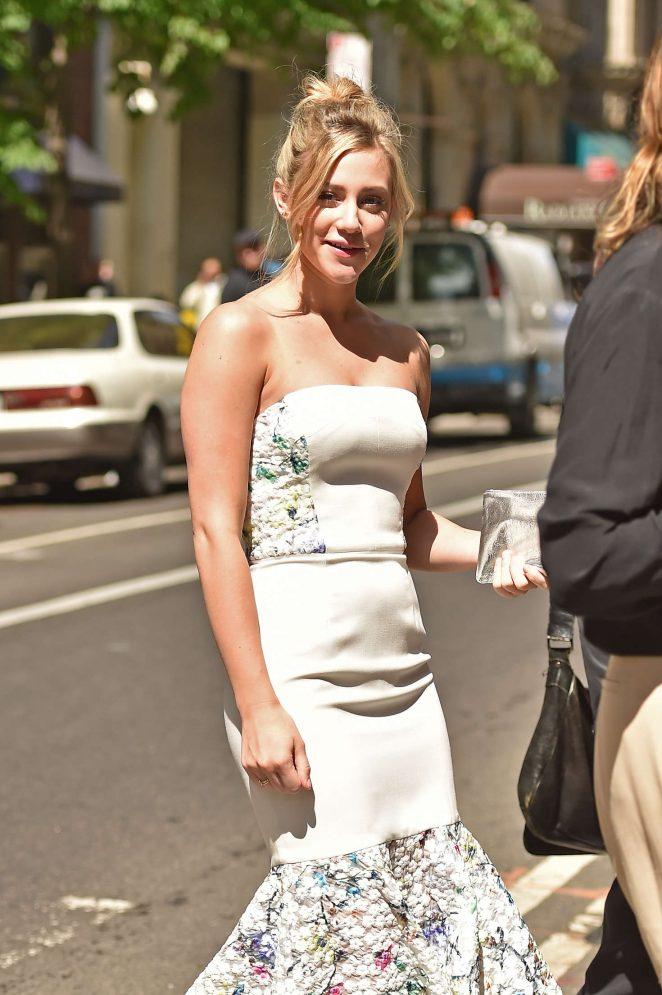 Lili Reinhart in Tight Dress out in Manhattan