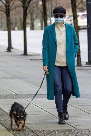 Lili Reinhart - Out With her dog Milo in Vancouver