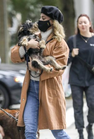 Lili Reinhart - Walks her dog in Vancouver while filming on 'Riverdale' is halted due to Covid-19