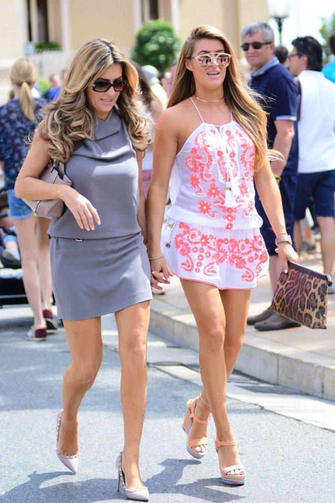 Lillie Gregg and Dawn Ward at Formula 1 Grand Prix in Monaco