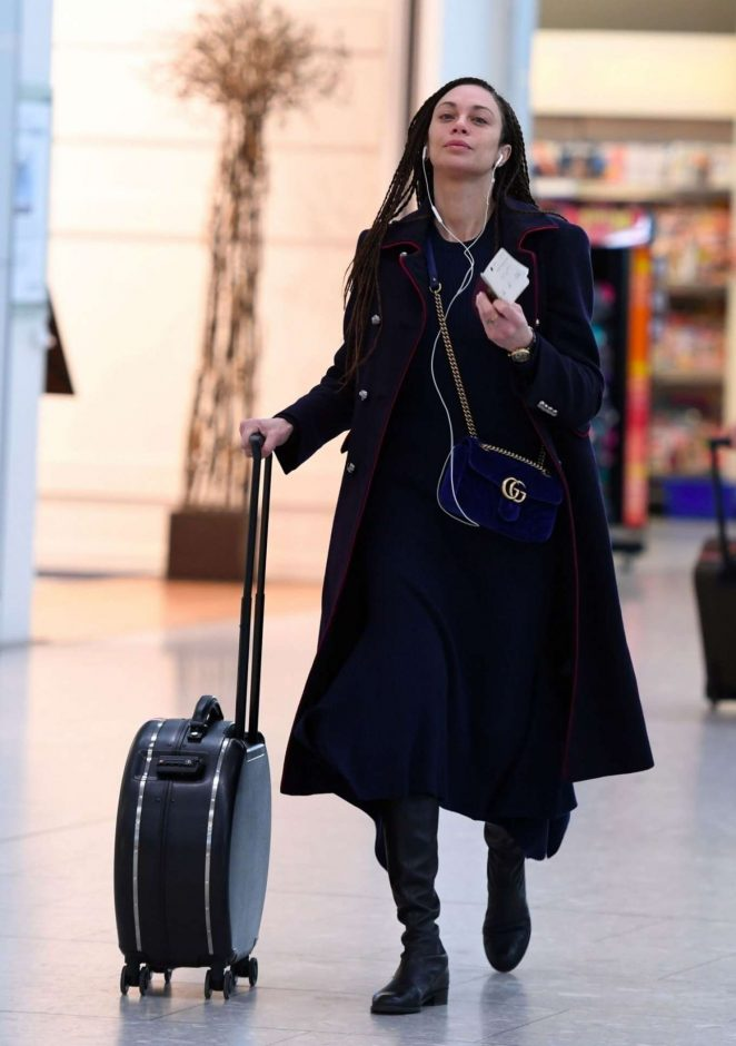 Lilly Becker - Arrives at Heathrow Airport in London