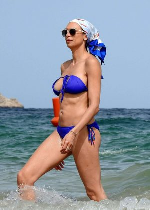 Lilly Becker in Blue Bikini on vacation in Ibiza