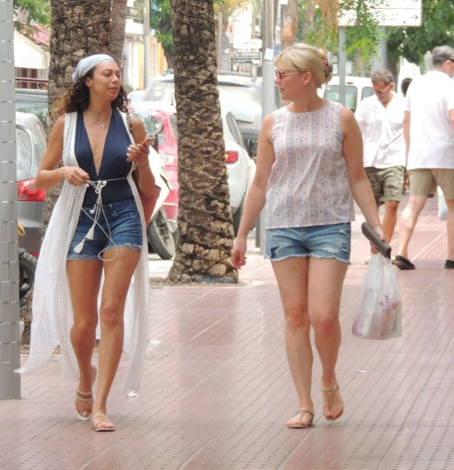 Lilly Becker in Jeans Shorts Out in Ibiza