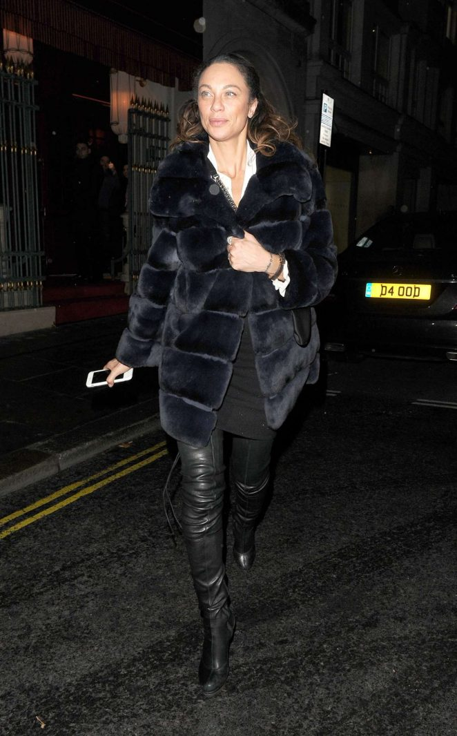 Lilly Becker - Leaving Nobu Restaurant in London