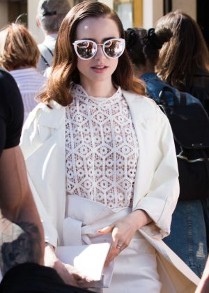 Lilly Collins at the Croisette in Cannes