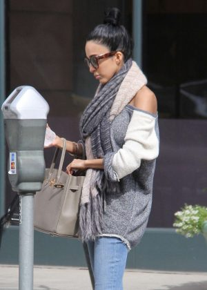 Lilly Ghalichi feed her parking meter in Beverly Hills