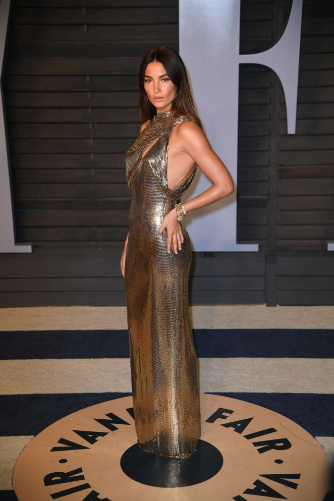 Lily Aldridge - 2018 Vanity Fair Oscar Party in Hollywood