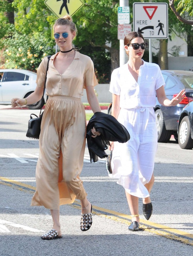 Lily Aldridge and Behati Prinsloo Shopping at Bel Bambini in Beverly Hills