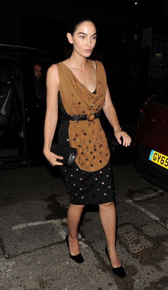 Lily Aldridge - Arrives at LFW Love Magazine and Youtube Party in London
