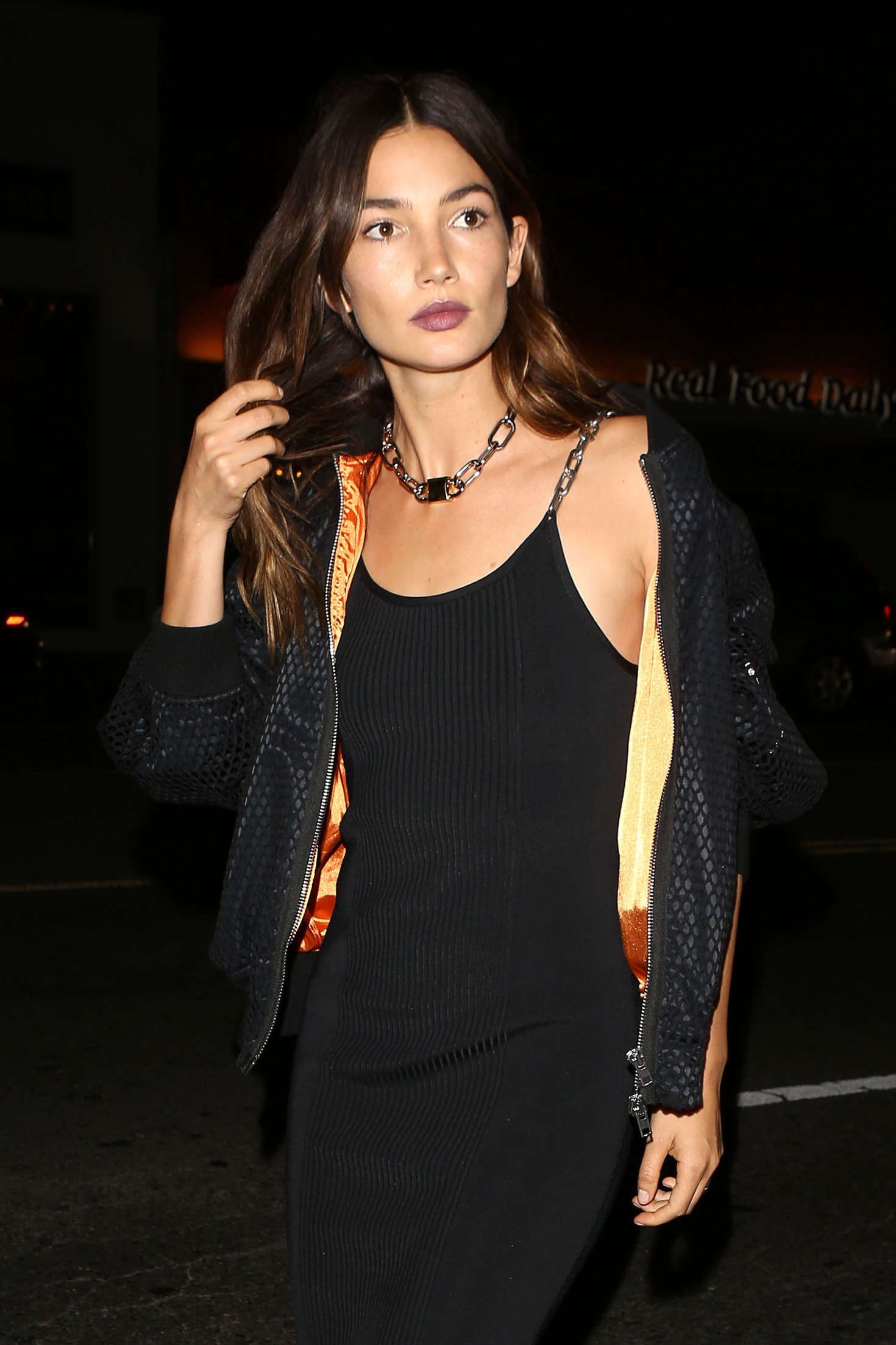 Lily Aldridge at Gigi's 21st Birthday Party in West Hollywood