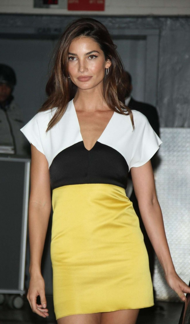 Lily Aldridge at Huffpost Live in New York
