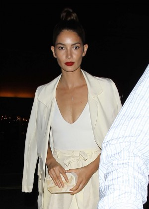 Lily Aldridge at The Nice Guy in West Hollywood