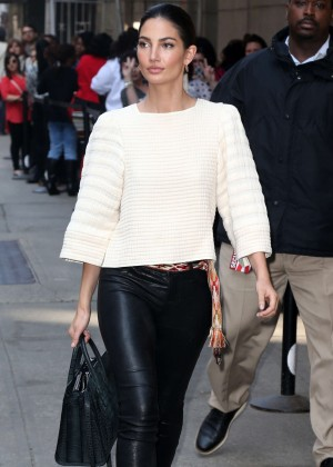 Lily Aldridge at The Wendy Williams Show in New York