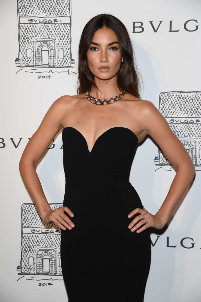 Lily Aldridge: Bulgari Flagship Store Opening Celebration -02