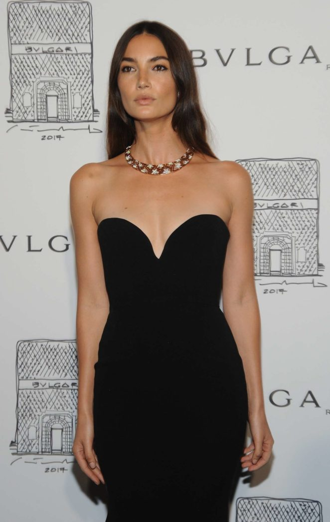 Lily Aldridge: Bulgari Flagship Store Opening Celebration -03