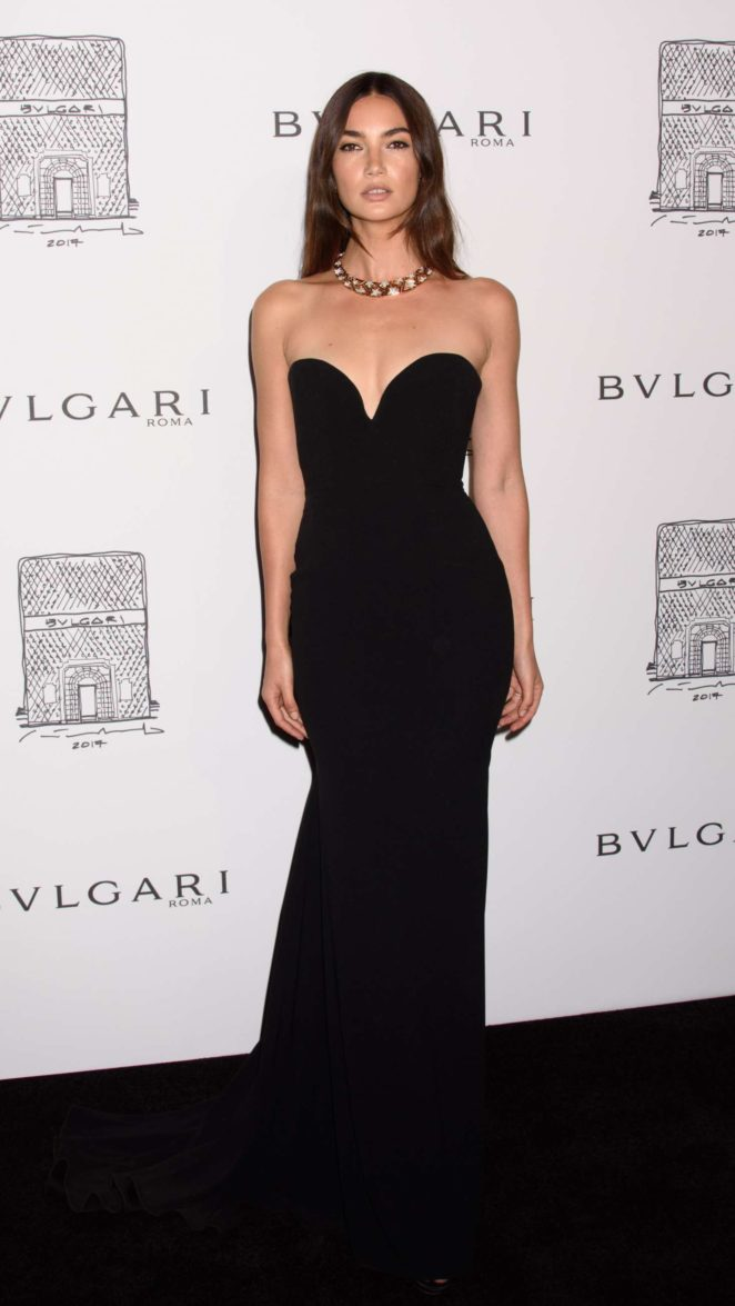 Lily Aldridge: Bulgari Flagship Store Opening Celebration -05
