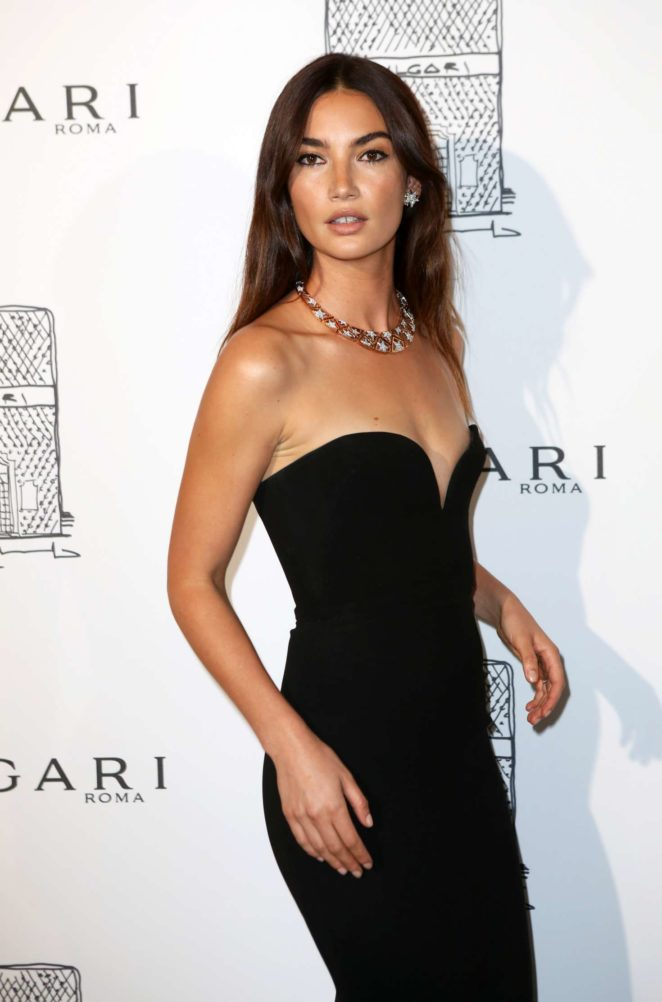 Lily Aldridge: Bulgari Flagship Store Opening Celebration -06