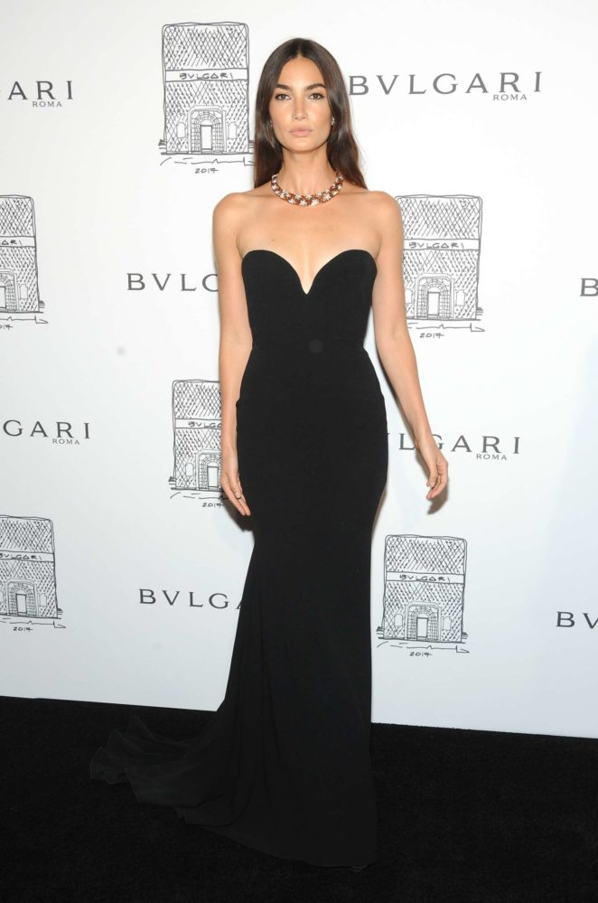 Lily Aldridge: Bulgari Flagship Store Opening Celebration -07