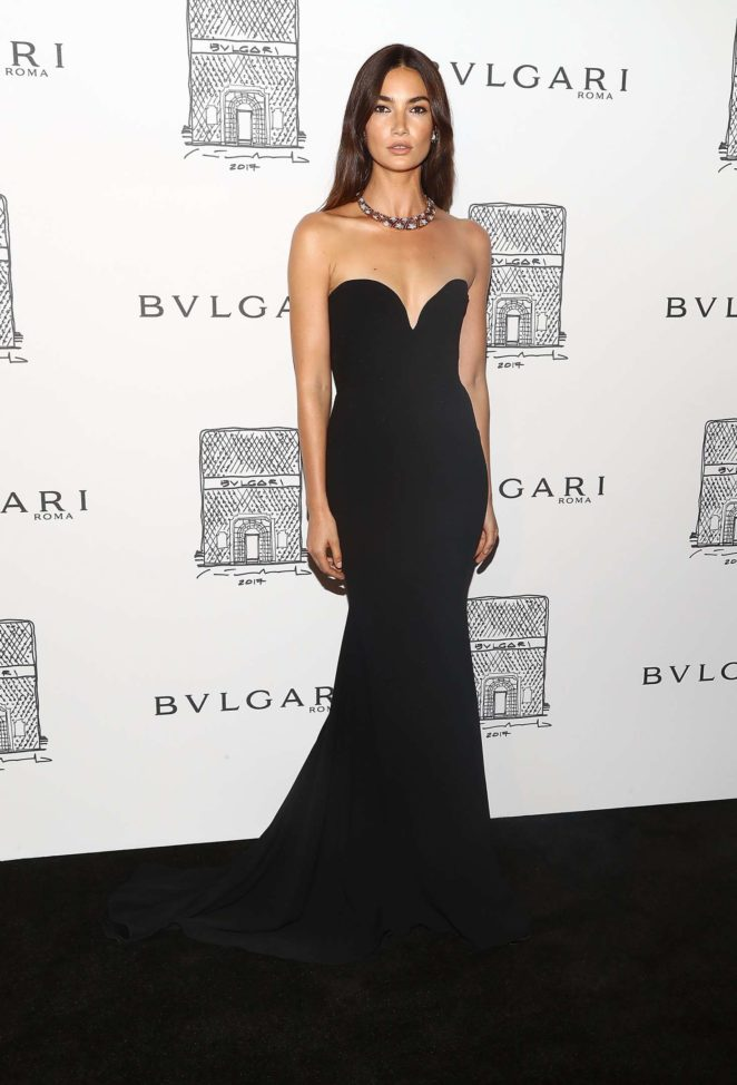 Lily Aldridge: Bulgari Flagship Store Opening Celebration -09