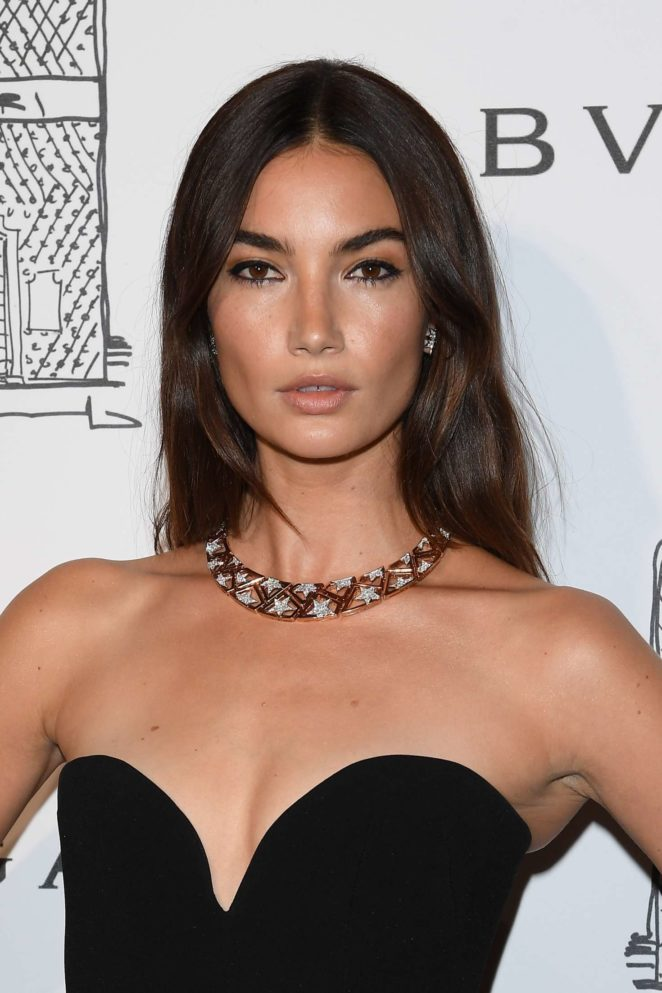 Lily Aldridge: Bulgari Flagship Store Opening Celebration -14