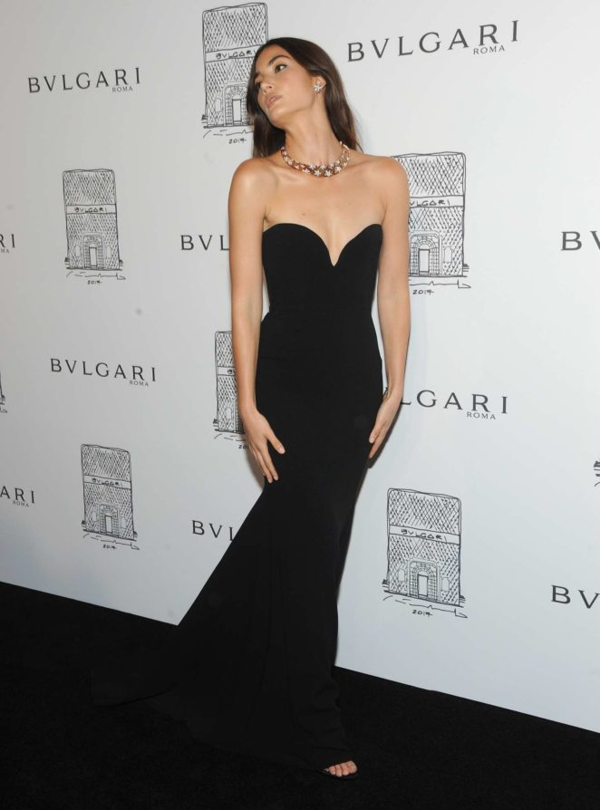 Lily Aldridge: Bulgari Flagship Store Opening Celebration -15