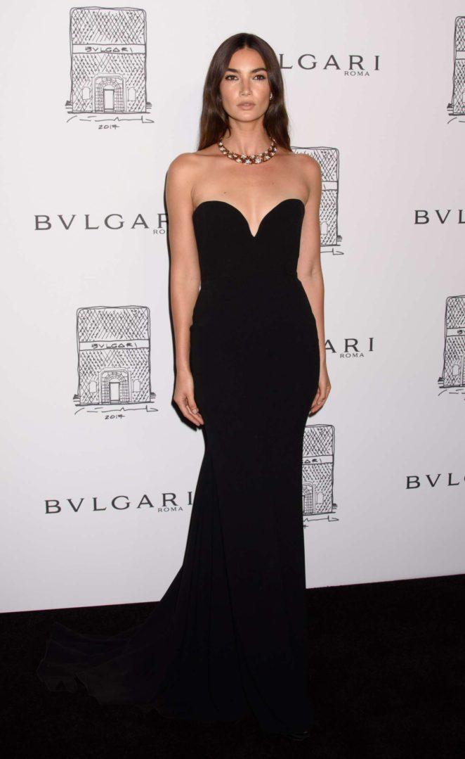 Lily Aldridge: Bulgari Flagship Store Opening Celebration -16