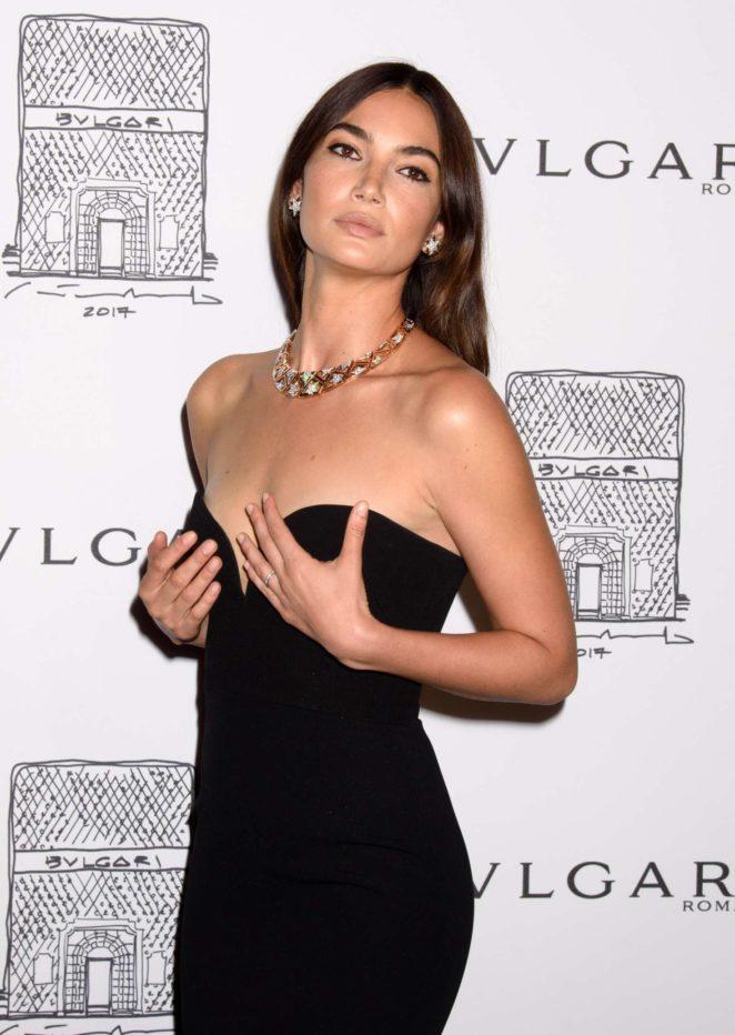 Lily Aldridge: Bulgari Flagship Store Opening Celebration -17