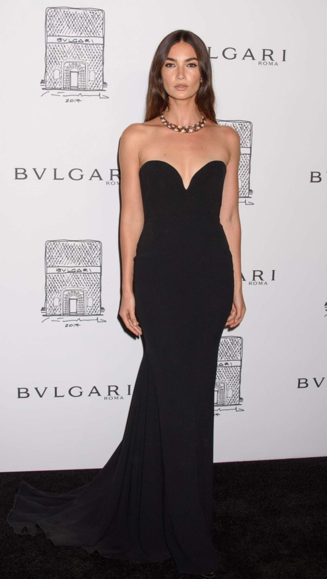 Lily Aldridge: Bulgari Flagship Store Opening Celebration -19