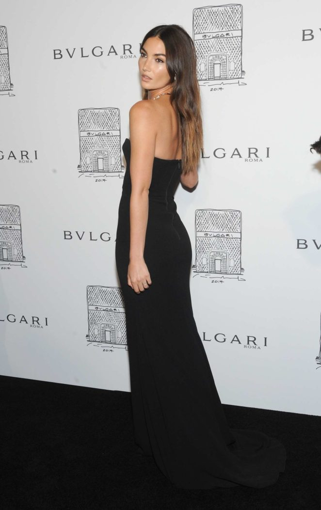 Lily Aldridge: Bulgari Flagship Store Opening Celebration -21