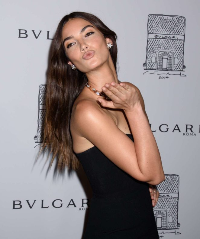 Lily Aldridge: Bulgari Flagship Store Opening Celebration -25