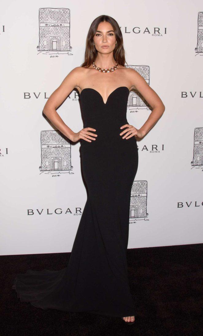 Lily Aldridge: Bulgari Flagship Store Opening Celebration -27