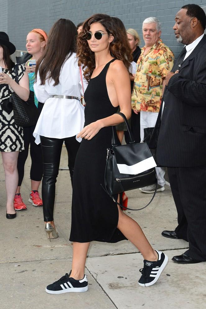 Lily Aldridge: Diane Von Furstenberg Fashion Show Spring 2016 NYFW -01