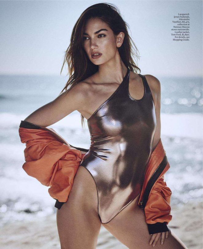 Lily Aldridge - Elle Magazine (April 2018)