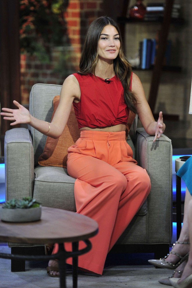 "Lily Aldridge - Fox 11 ""Good Day LA"" in Los Angeles"