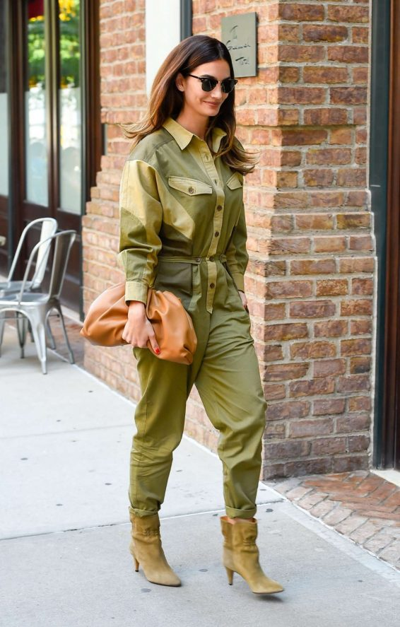 Lily Aldridge 2019 : Lily Aldridge in Green Outfit – Out in New York City-01