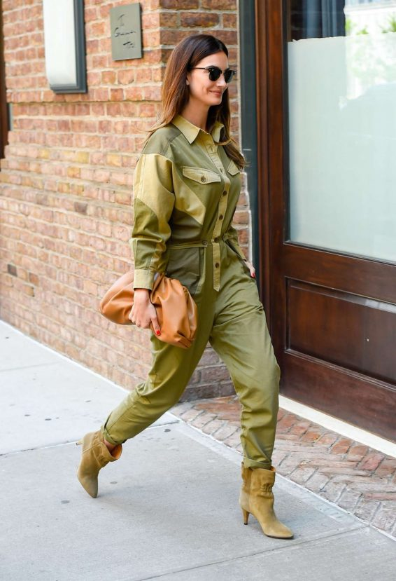 Lily Aldridge 2019 : Lily Aldridge in Green Outfit – Out in New York City-02