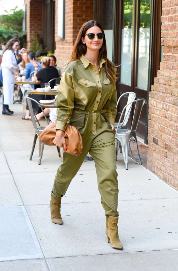 Lily Aldridge 2019 : Lily Aldridge in Green Outfit – Out in New York City-03