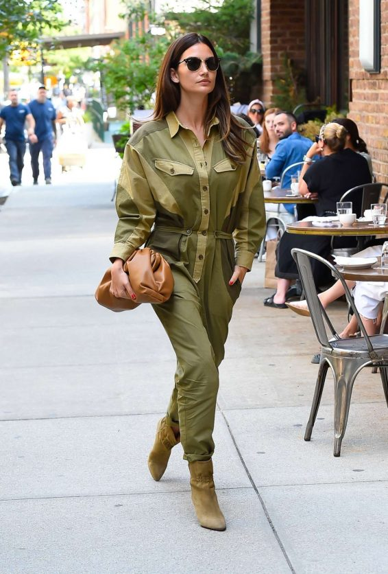 Lily Aldridge 2019 : Lily Aldridge in Green Outfit – Out in New York City-06