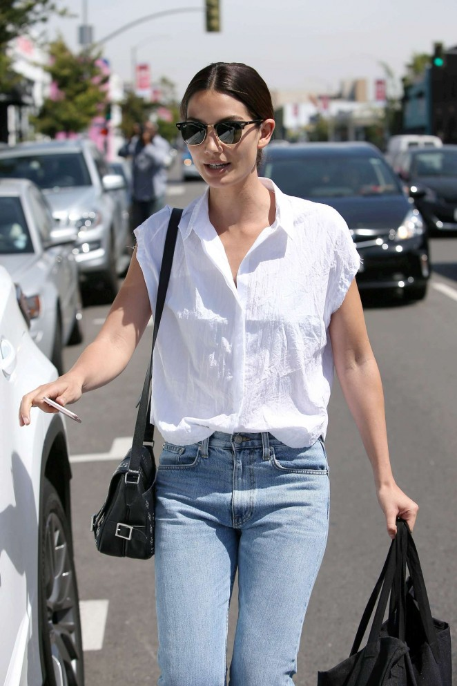 Lily Aldridge in Jeans out in West Hollywood