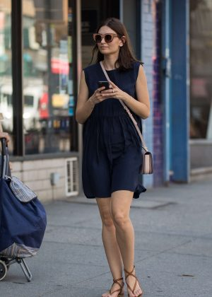 Lily Aldridge in Mini Dress out in New York