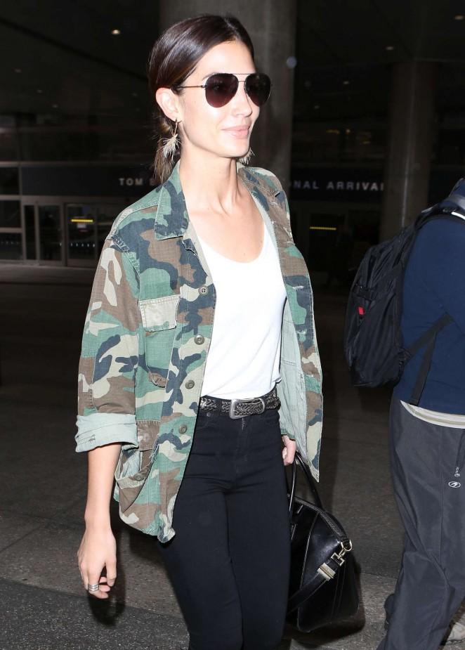 Lily Aldridge – LAX airport in LA