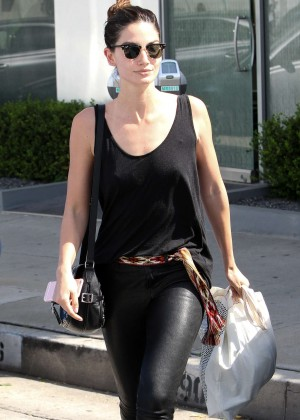 Lily Aldridge - Leaves Rise Movement gym in West Hollywood