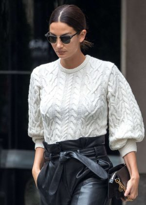 Lily Aldridge - Leaving her hotel in New York