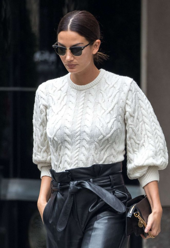 Lily Aldridge – Leaving her hotel in New York