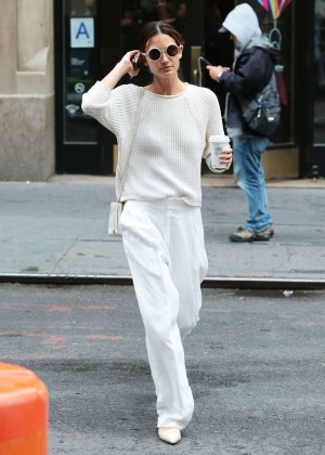 Lily Aldridge - Out and about in NYC