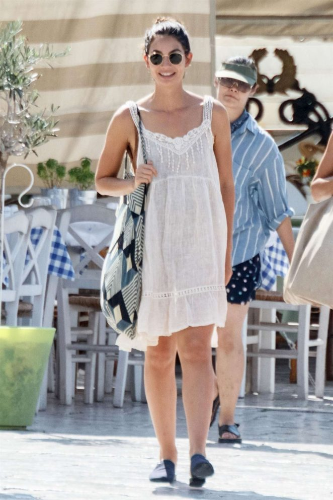 Lily Aldridge – Out in Greece