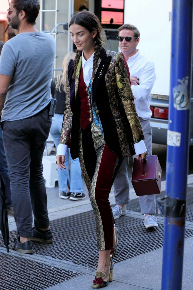 Lily Aldridge Out in New York