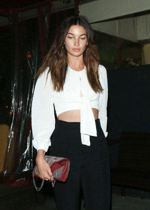 Lily Aldridge out in West Hollywood